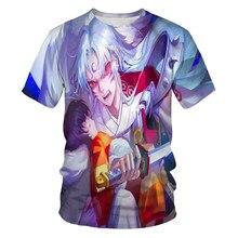 2021newinuyashaanimation3dprinting moda masculina e feminina camiseta dos desenhos animados anime roupas de rua solto confortável topo 110/6xl