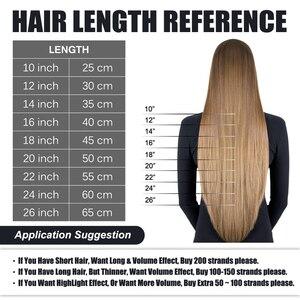 "Image 4 - Fusion Keratin Bond Human Hair Extensions Capsule U Nail Tip Real Remy Pre Bonded Hair Platinum Blonde 16"" 18"" 20"" 0.8g/strand"