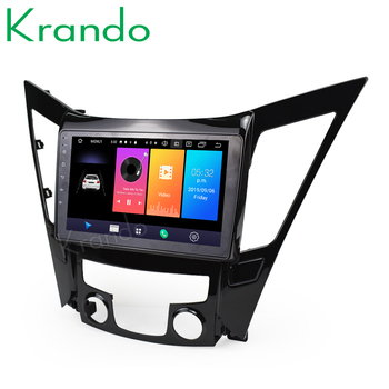 Krando Android 9.0 10.1 IPS Full touch car radio multimedia system for HYUNDAI SONATA 8 2012-2015 navigation GPS No 2din DVD image