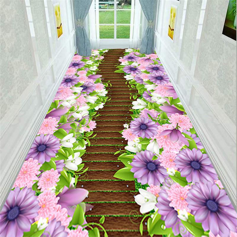 Kitchen Bathroom Antiskid Mats Creative Door Mat Plant Carpet 3d Printing Hallway Carpets Bedroom Living Room Tea Table Rugs CF - 4