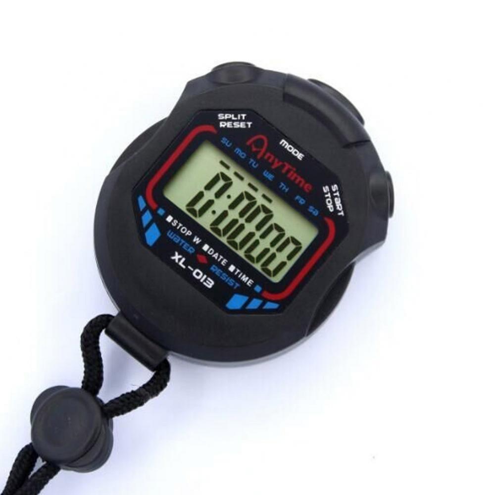 50% HOTDigital Handheld LCD хронограф спортивный секундомер таймер секундомер со шнурком