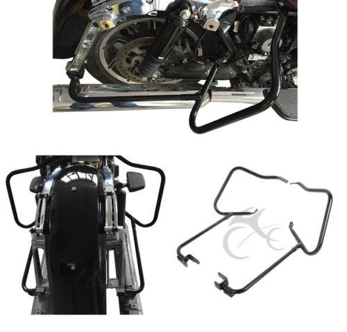 Chrome Saddlebag Support Bracket Set 2014 /& Up Harley-Davidson Street Road Glide