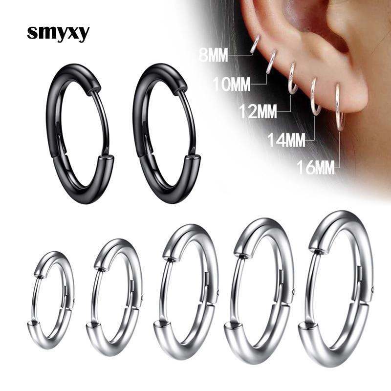 Серьги из нержавеющей стали серьга в виде кольца пирсинг для хрящевой части уха, 1 пара, для мужчин и женщин, тонкие, противоаллергические