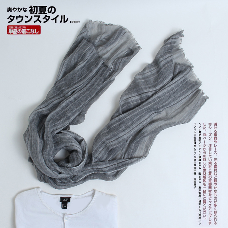 2018 Autumn And Winter Japanese Style Cotton Scarf Men And Women Korean-style Hollow Out Literature And Art College Shawl Thin S