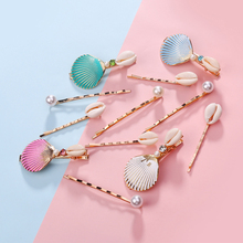 Vacation Style Sweet Lovely Pearl Shell Hairpin Summer Beach Hair Accessories 3 Pcs