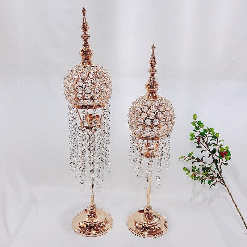 4 pièces bougeoirs géométrique chandelier métal cristal Force de levage bougeoir nordique Style minimaliste décoration ZZT082