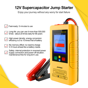 Image 4 - Autool EM335 Car Jump Starter Unlimited Use 12V Batteryless Portable Car Emergency Power Bank with Ultracapacitor Dropshippng
