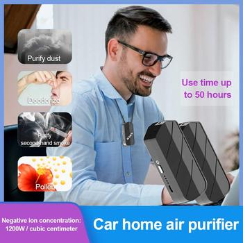 1200W Portable Wearable UVC Air Purifier No Noise USB Air Cleaner Emergency Lighting Negative Ion Air Freshener for Car Home