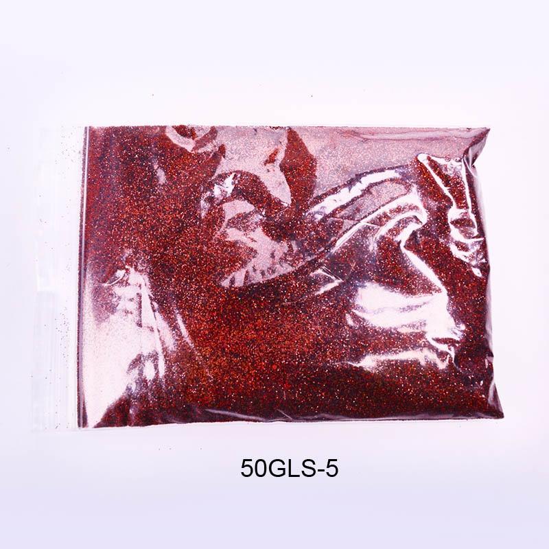 50 г/пакет тонкий голографический блестящий для ногтей порошок лазерный серебряный лак для ногтей Шестигранная форма лак для маникюра художественное оформление ногтей 0,2 мм - Цвет: 50G LS-5