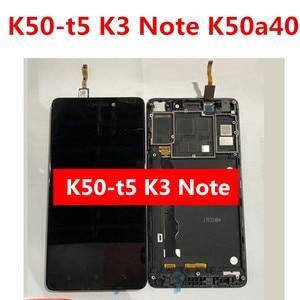 5.5 ''dla Lenovo K50-T5 K3 uwaga K50a40 K50-t3s wyświetlacz LCD Digitizer wymiana montaż ekranu dotykowego z ramą czarny