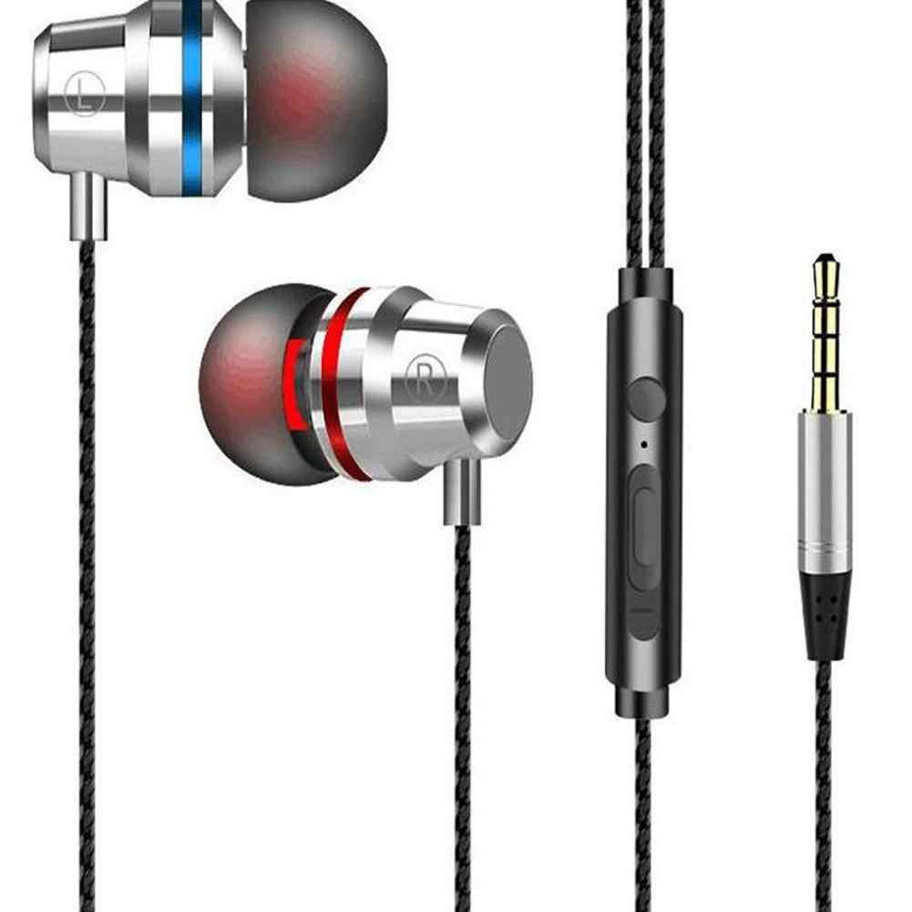 HIFI سوبر باس سماعة رأس سلكية 3.5 مللي متر في الأذن سماعة ستيريو سماعات الأذن مع الميكروفون الأيدي الحرة للهاتف المحمول سامسونج شاومي