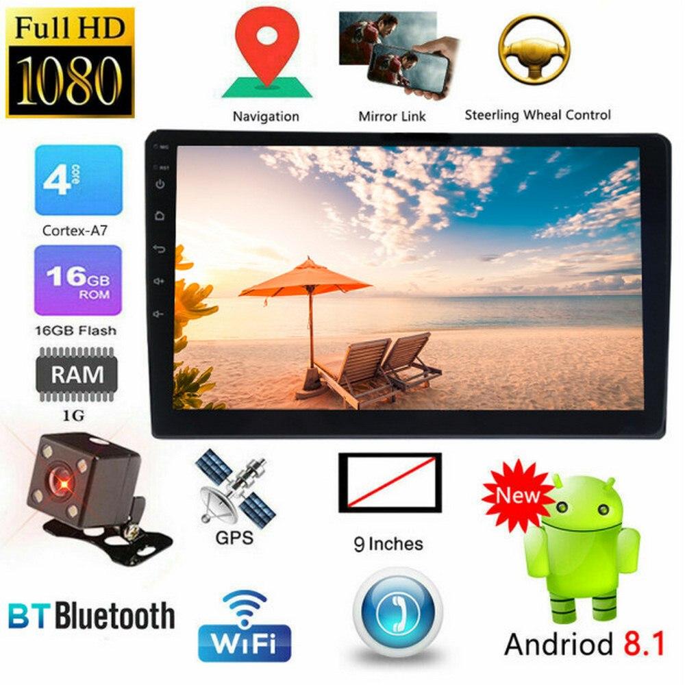 10.1 pouces écran tactile MP5 lecteur Android 8.1 2 Din autoradio multimédia lecteur vidéo Auto radio WIFI Bluetooth GPS Audio