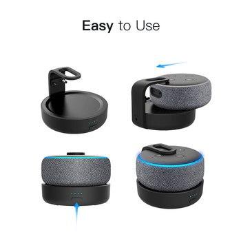 Ggmm Echo Dot Laadstation Draagbare Batterij Base Voor 3nd Generatie Draagbare 20W 360 Graden Verbeterde Geluid (Dot niet Inbegrepen)