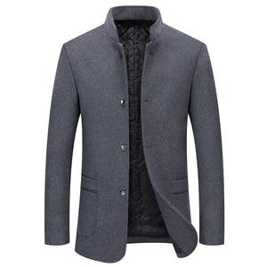 New Coat Men's Stand Collar pl