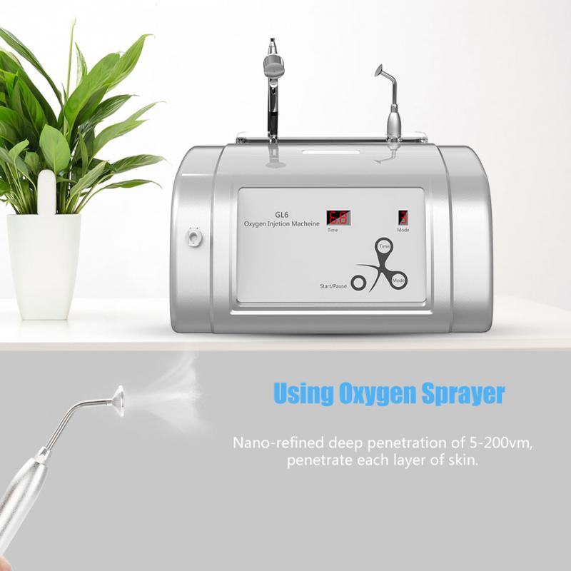 Beauty Machine Facial Care Tools Beauty Machine Oxygen Injection Machine Hydrate Jet Injection Spray Skin Rejuvenation