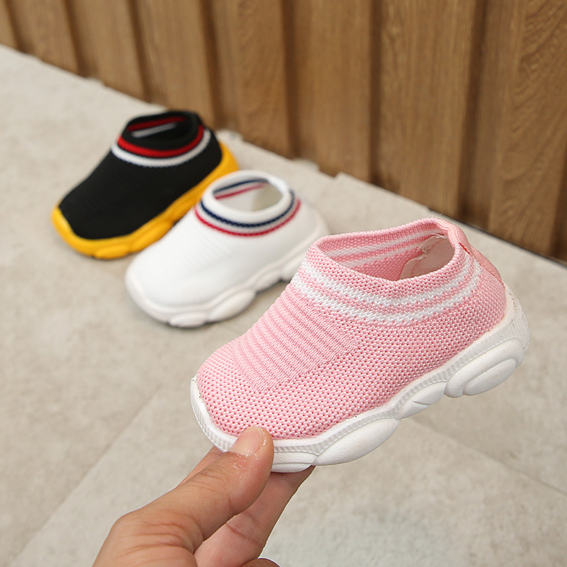 Breathable Baby Sports Shoes Non-slip Soft Newborn Prewalker Boys And Girls Non-slip Running Casual Shoes First Walk Sneakers