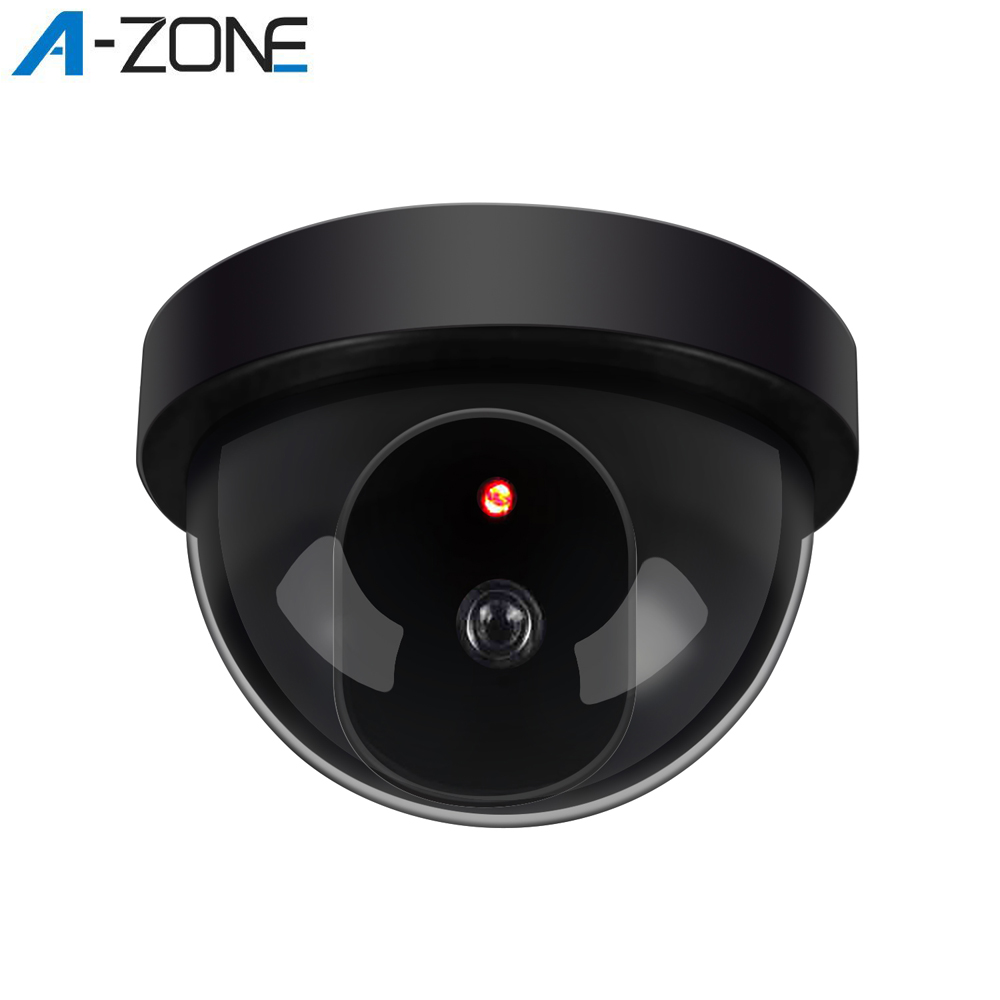 A-ZONE Home Dummy Dome Security Camera Infrared Wireless CCTV Surveillance Fake Camera Outdoor False Simulation Camera