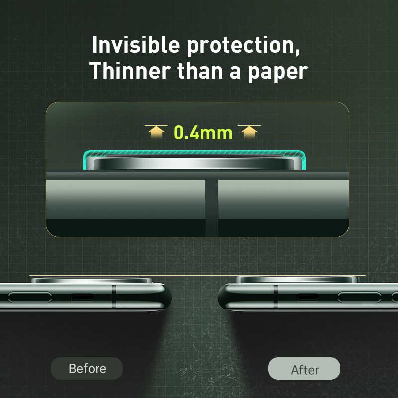 Baseus מצלמה מגן עבור iPhone 11 פרו מקסימום אחורי מצלמה טבעת עדשת מזג זכוכית מגן עבור iPhone 11 הגנת מקרה