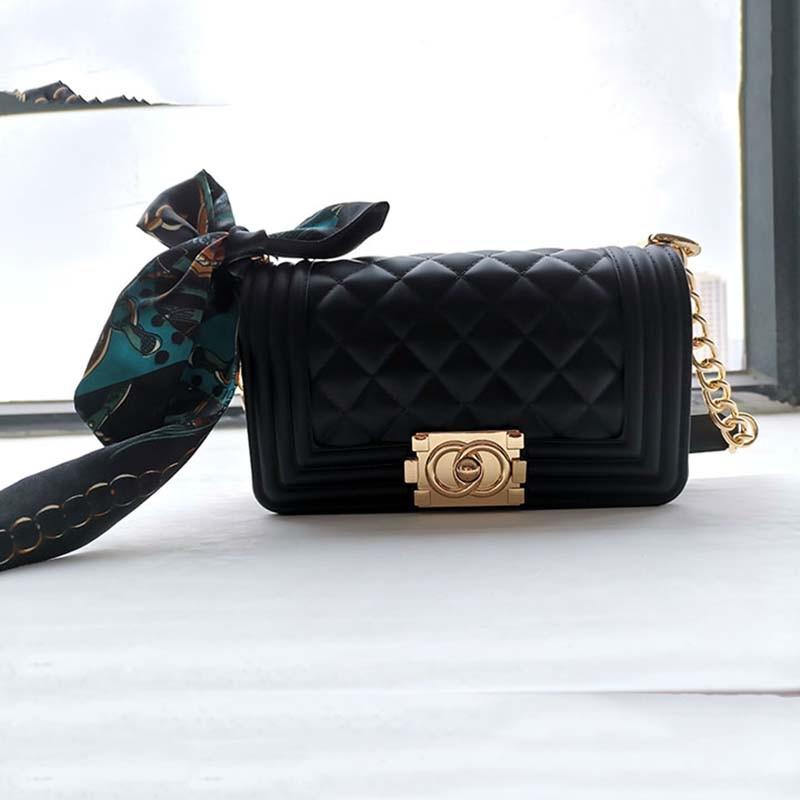 GW Luxury Black Fashion Handbags Black Square Ladies Handbags Women High Quality 2020 Designer New Style