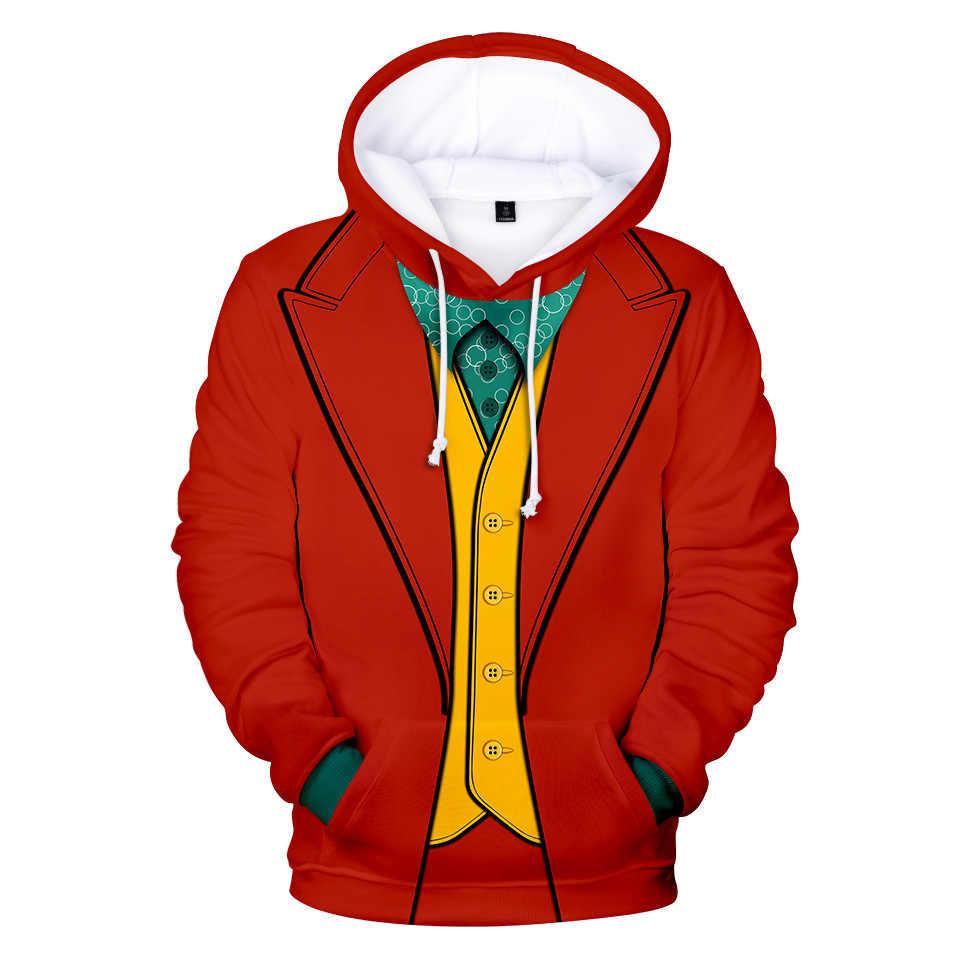 Joker Cosplay Arthur Fleck Hoodie Costume Pullover Coat Jacket Sweatershirt Tops