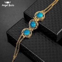 Pulsera de joyería turca de cristal superior para hombre y mujer, pulsera islámica musulmana de Color dorado, joyería oriental de África/Árabe/medio