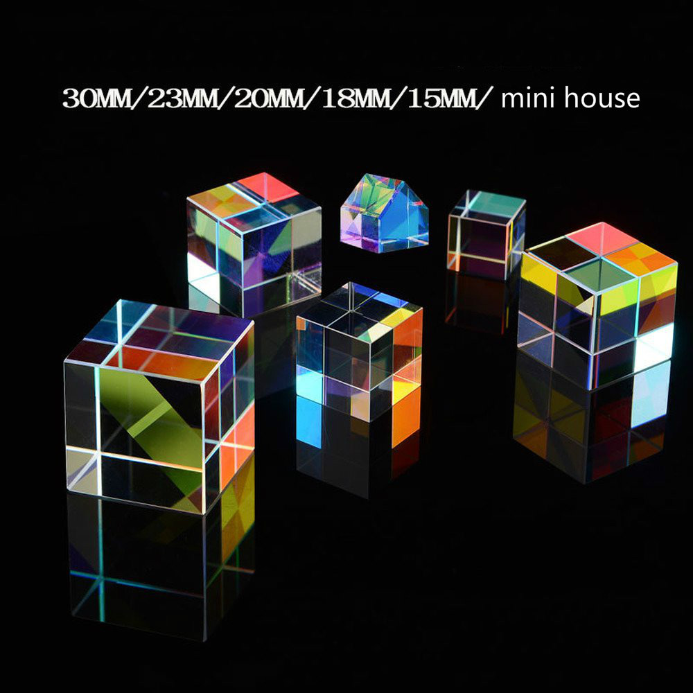 Color Prism 6 Combination Set Flawless Six Bright Crystal Cube Birthday Gift Rainbow Photo