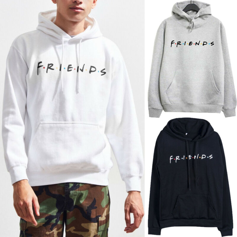 Goocheer Unisex Men Women FRIENDS Letter Print Couple Matching Hoodies Jumper Hooded Sweatshirt Autumn Fashion Sweatshirt