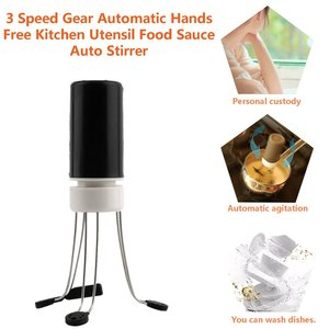3 Speed Gear Automatic Stir Crazy Stick Blender Mixer Automatic Hands Free Tool Kitchen Food Auto Stirrer Blender