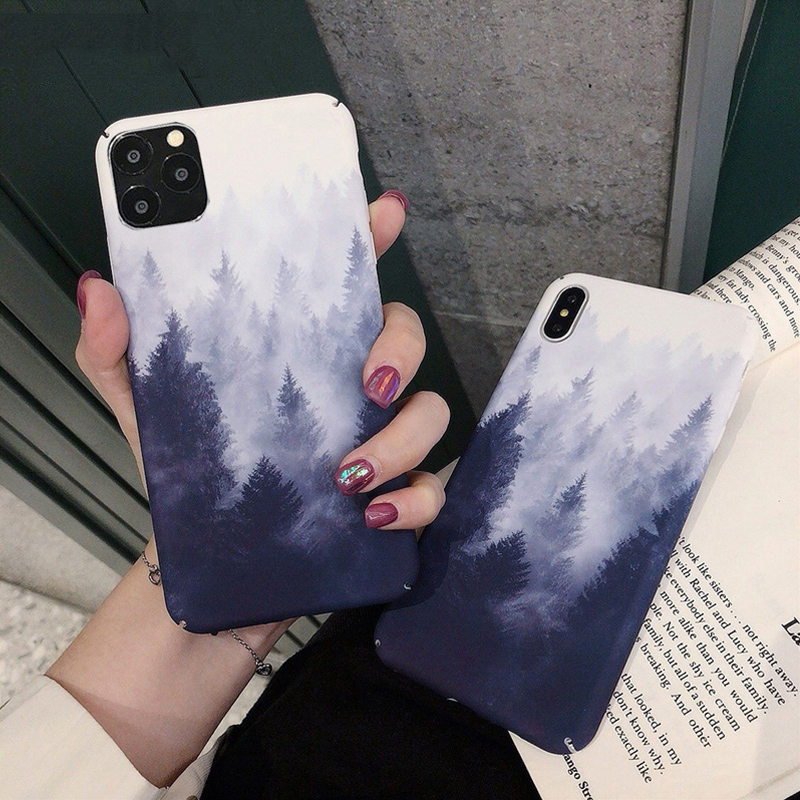 Phone Case For Iphone 11 Pro X XR XS Max 8 7 6 6S Plus Lovely Cartoon Starry Sky Moon Hard Plastic Back Cover Cases Capa