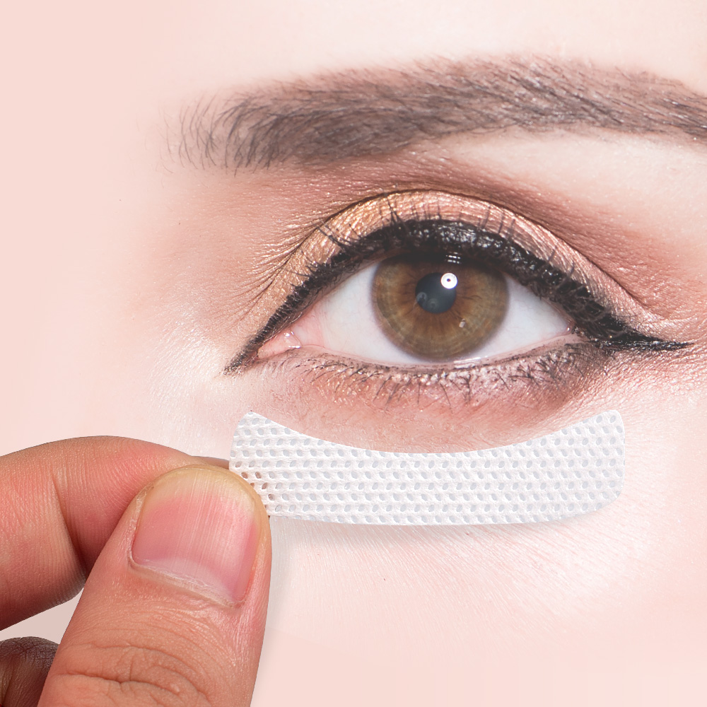 100pcs/pack Medical Non-woven Fabrics Patches Eyelash Under Eye Pads Eyelash Extension Adhesive Eyelashes Tape Eye Tips Makeup
