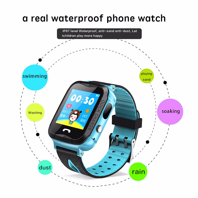 H4a587985e993451590cc948607da337e6 - GPS kids Smart Watch Phone Position Children Watch 1.22 inch Color Touch Screen WIFI SOS Tracker Smart Baby Watch IOS & Android