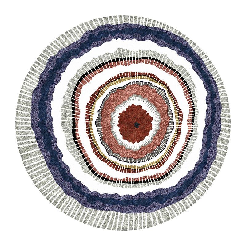 Современный абстрактный ковер для гостиной скандинавский круглый ковер нескользящий коврик для спальни коврик с геометрическим орнаментом защита пола для дома - Цвет: 1