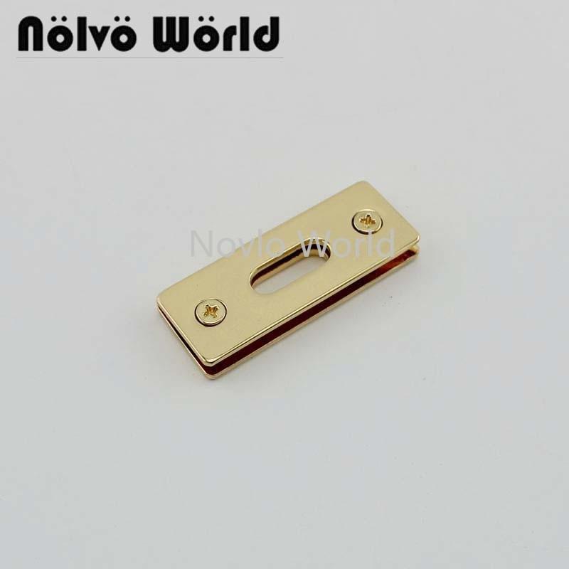 4 Pieces Test, 3 Colors, 44*16mm, Metal Eyelets For Leather Craft Shoe Belt Bag Clothes Platinum Lock Handbag Purse Hardware