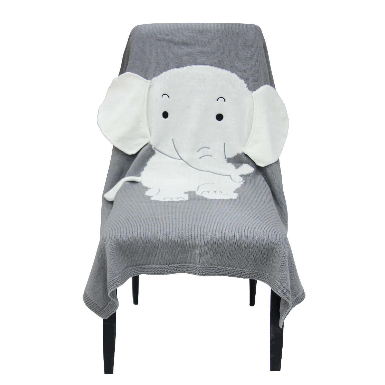 Baby Knitted Blanket Personalized Baby Boy Blankets Elephant Girl Crib Bedding Baby Room Decor Stroller Blanket 70 110cm Blanket Swaddling Aliexpress