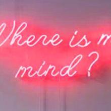 Таможня где мой ум? Синий белый красный розовый темно-синий фиолетовый бирюзовый зеленый желтый стеклянный неоновый светильник пивной бар