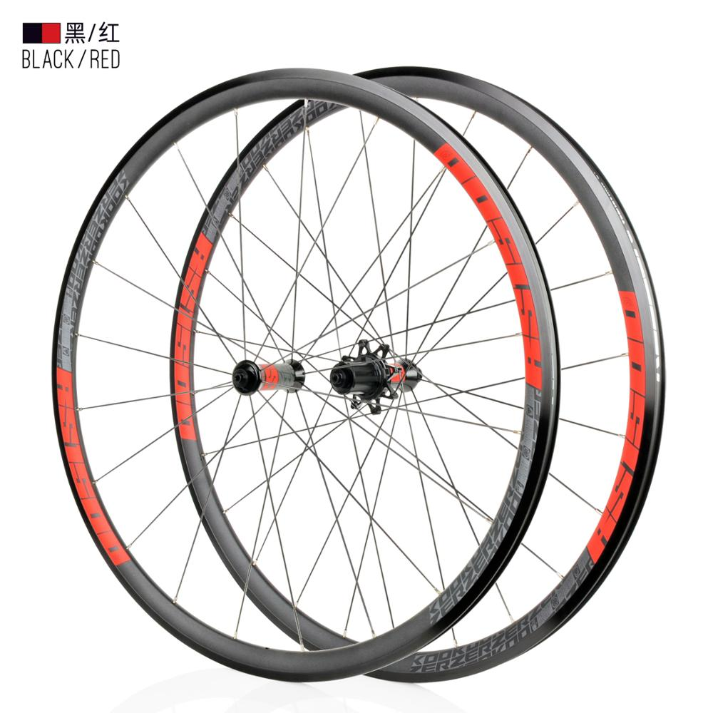 New KOOZER RS1500 road bike 700C wheels front 2 rear 4 bearing 72 ring 30MM rim 2: 1 with wheels ultralight 1500g use RS330(China)