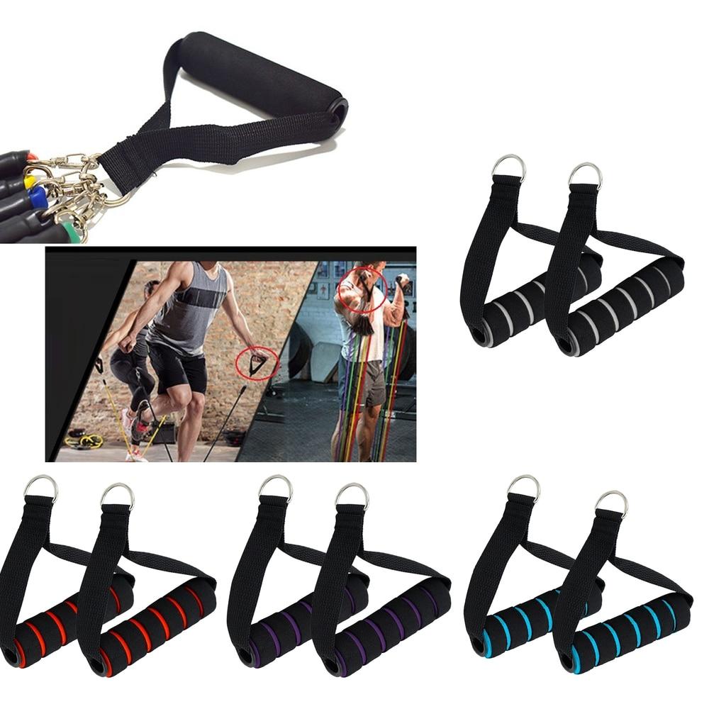 Direnç bantları ile kolu kavrama süper naylon kayış için d-yüzük spor Yoga egzersiz