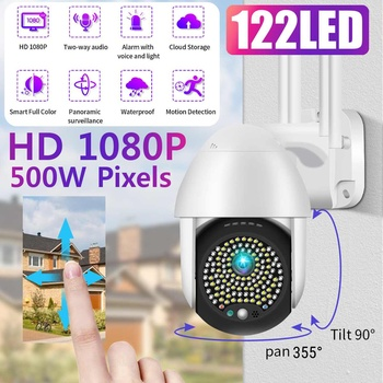 5MP Wireless Wifi Security Camera 1080P HD 8X Optical Zoom PTZ IP Camera Outdoor Home Security CCTV Surveillance Cam