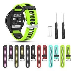 EiEuuk мягкий силиконовый ремешок для наручных часов спортивный ремешок Замена для Garmin подход S6 /Forerunner 220/230/235/620/630/735