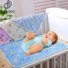 Baby Changing Pads Covers Reusable Baby Diapers Mattress Diapers for Newborn Random Pattern Linens Waterproof Sheet Changing Mat(China)