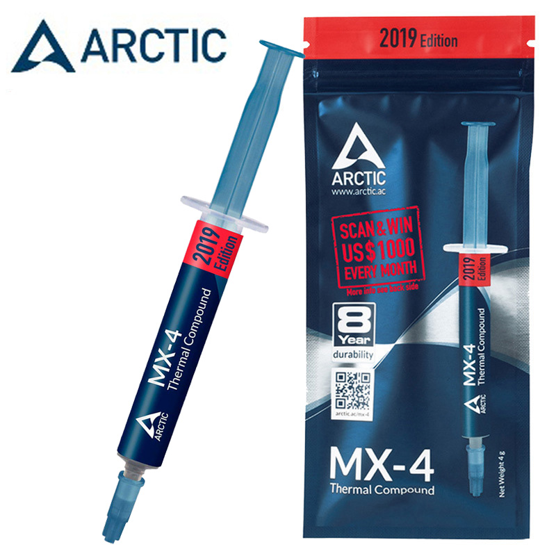 ARCTIC MX-4 Thermal Compound Paste For Coolers Heat Sink Paste Thermal Grease VGA Heatsink Plaster High Durability For CPU GPU