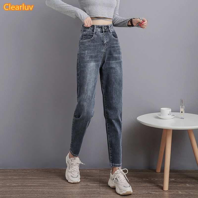 2020 Mom Jeans Women Vintage High Waist Jeans For Women Slim Stretch Denim Jean 4XL Plus Size 100% Cotton Made