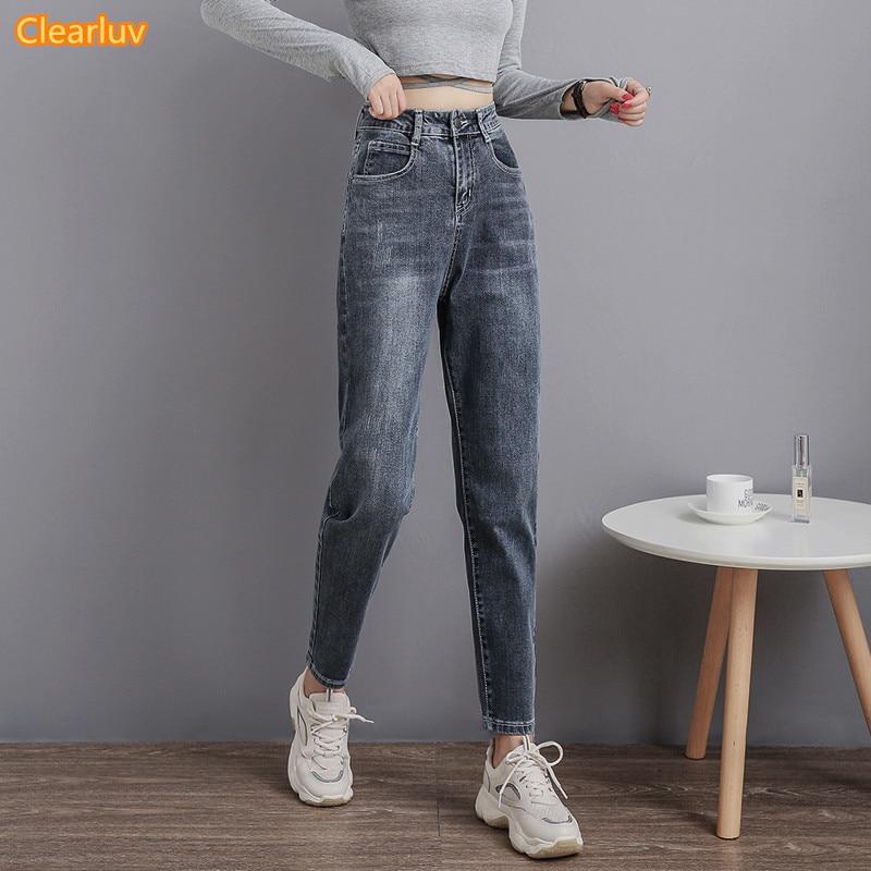 2020 Mom Jeans Women Vintage High Waist Jeans For Women Slim Stretch Denim Jean 4XL Plus Size 100% Cotton Made