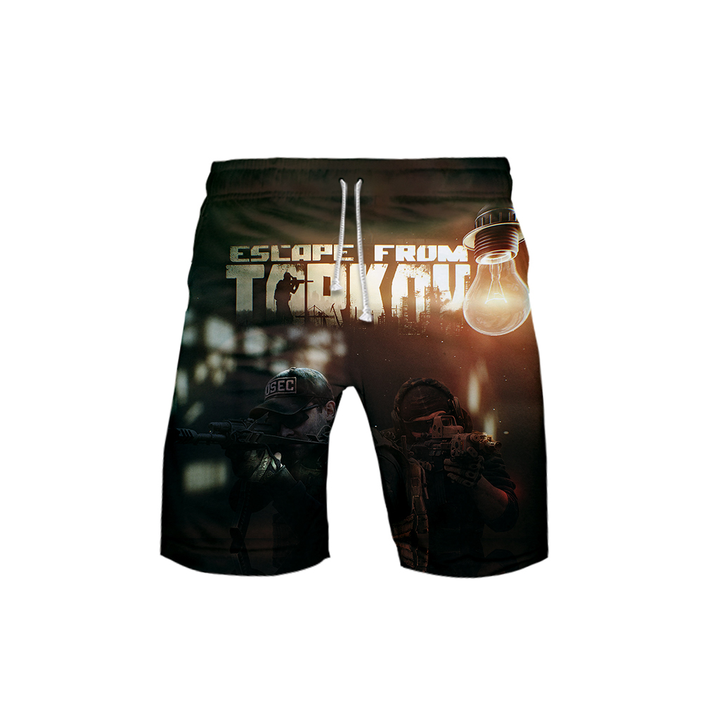 New Short Pants Escape From Tarkov Battle Game Fashion Nieuwste Casual Gym Male Plus Size Short Trousers Big Beat Shorts 6XL