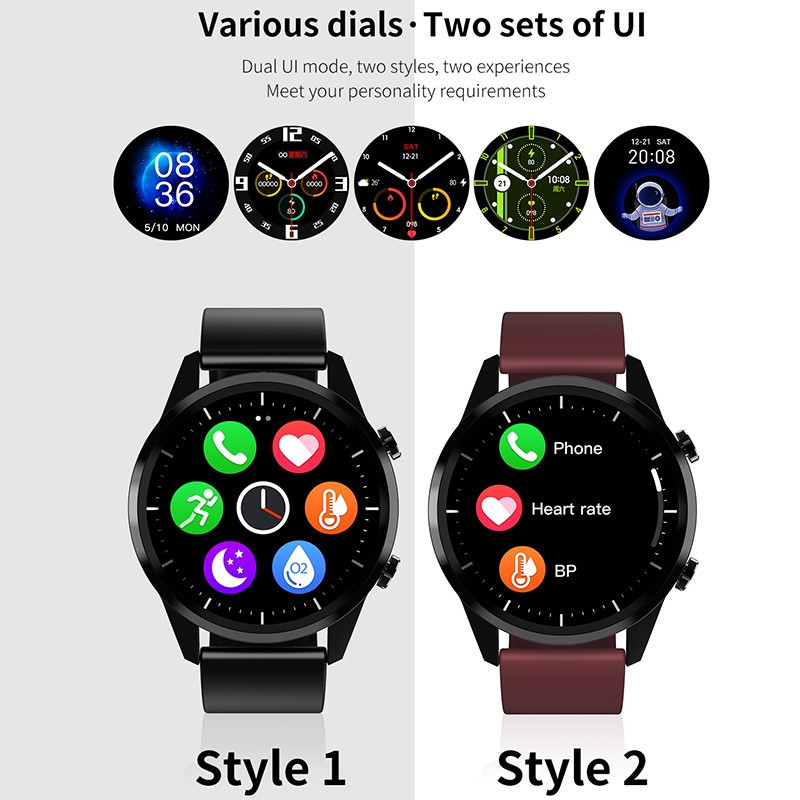 2020NEW Smart Watch Men Bluetooth Call Heart Rate Blood Pressure Oxygen Full Round Touch Screen Weather Display Smartwatch Women 5