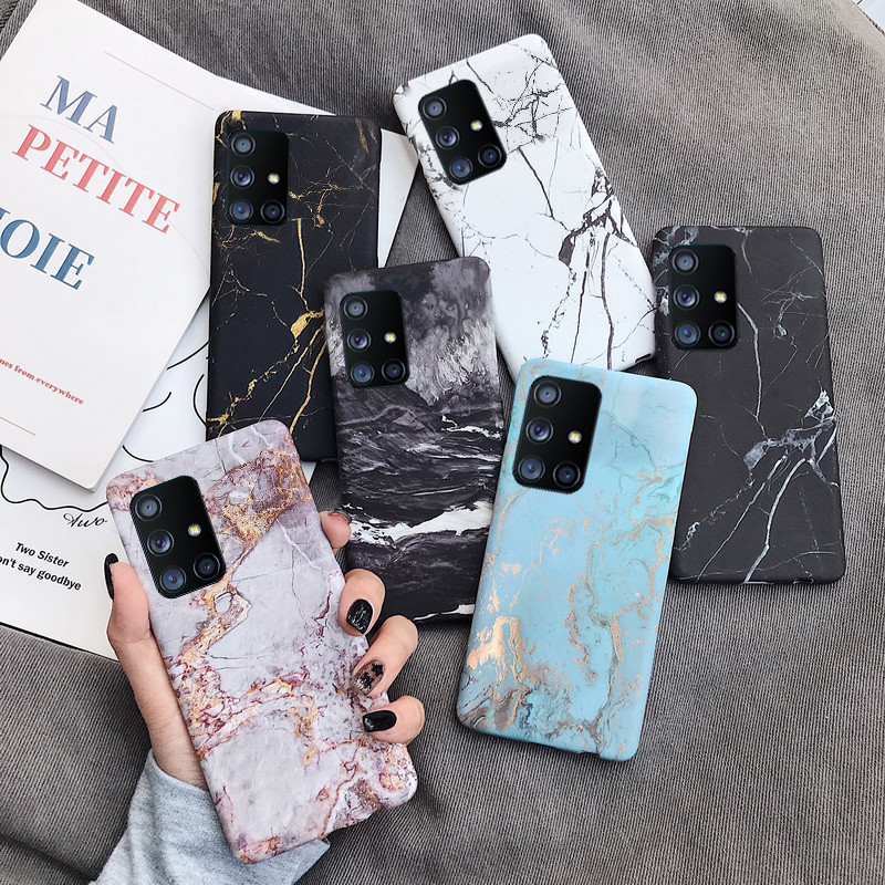 Ultra Thin Granite Marble Hard PC Plastic Matte Back Cover Case For Samsung Galaxy S20 Series