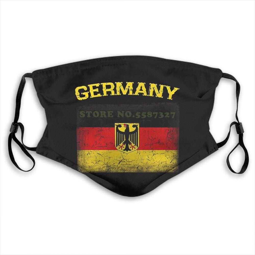 Face Mask German Eagle German Deutschland Flag Distressed Fashion Funny Design White Black Reusable Protective Masks