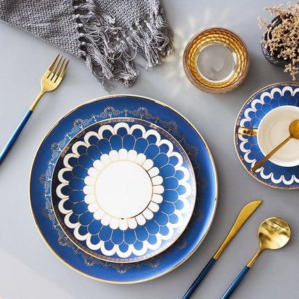 >European Restaurant Dining Salad Fruit Plate Western <font><b>Style</b></font> Tableware Set Dim Sum Steak <font><b>Nordic</b></font> Clubhouse Free Shipping