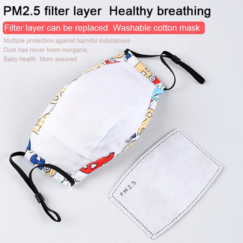 Children Coronavirus Mouth Mask With Breath Design Replaceable Filter Anti Dust Mouth Mask PM2.5 Respirator Kids Face Mask