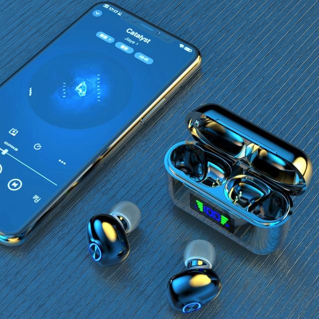 Bluetooth Wireless Headphones with Mic Sports Waterproof TWS Bluetooth Earphones key Control Wireless Headsets Earbuds Phone 3